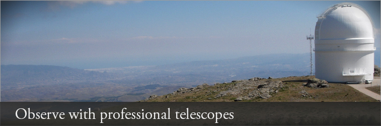 Telescope and mountains